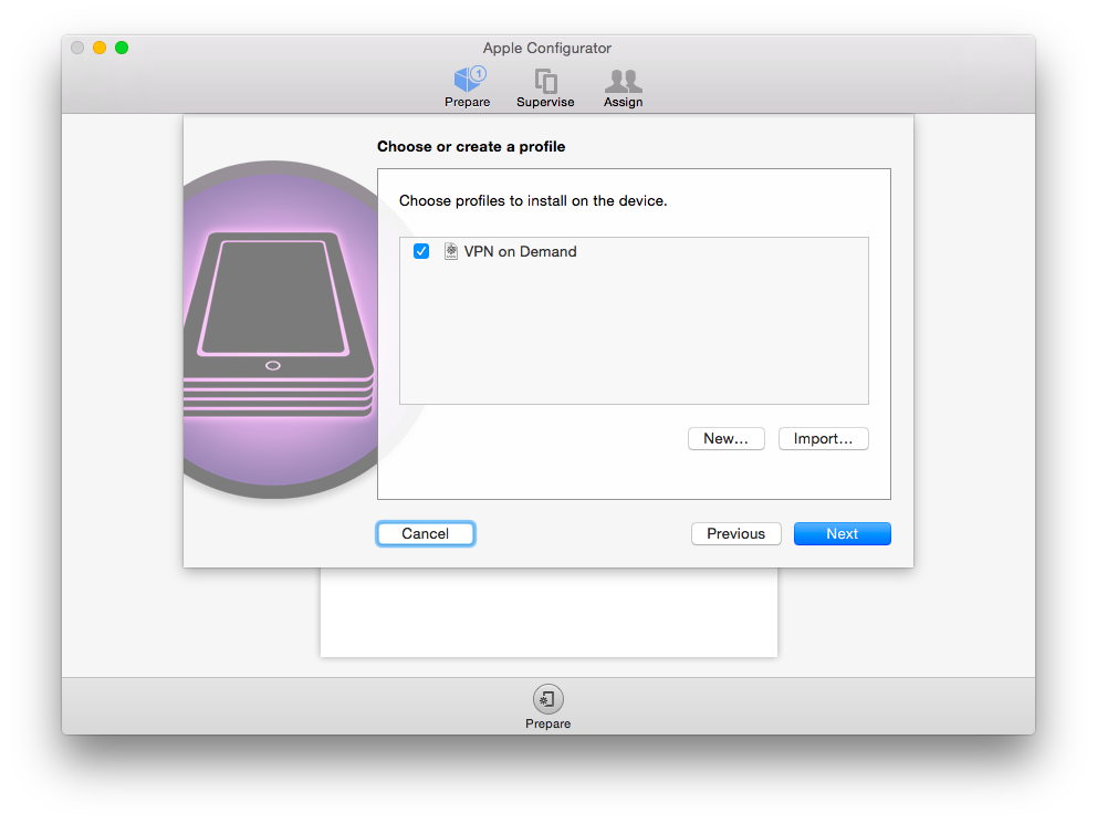 apple configurator. install profile. part two