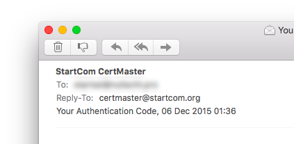 mail from startcom certmaster