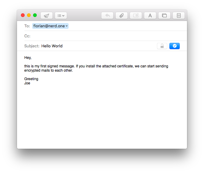 screenshot: mail, compose new mail