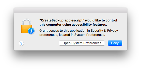 screenshot, accessibility popup